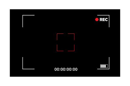Abstract camera screen. Photo frame. App interface template. Vector ui screen. Stock image. EPS 10.