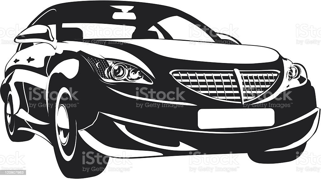 Abstract car isolated royalty-free stock vector art