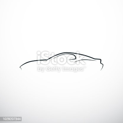 Abstract car silhouette. Side view. Vector illustration