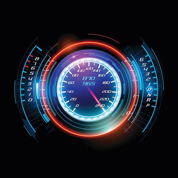 Abstract car speedometer Abstract car speedometer in vector speedometer stock illustrations