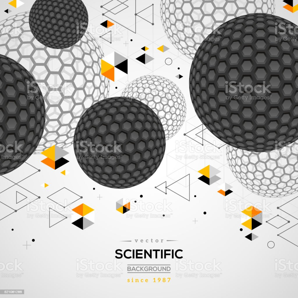 Abstract carbon particles vector art illustration