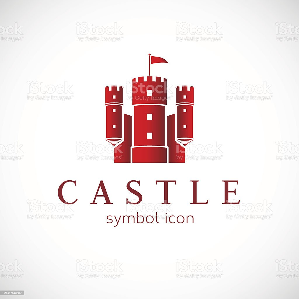 Abstract Castle Vector Icon vector art illustration