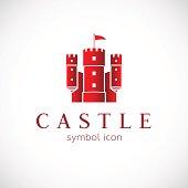 Abstract Castle Vector Icon