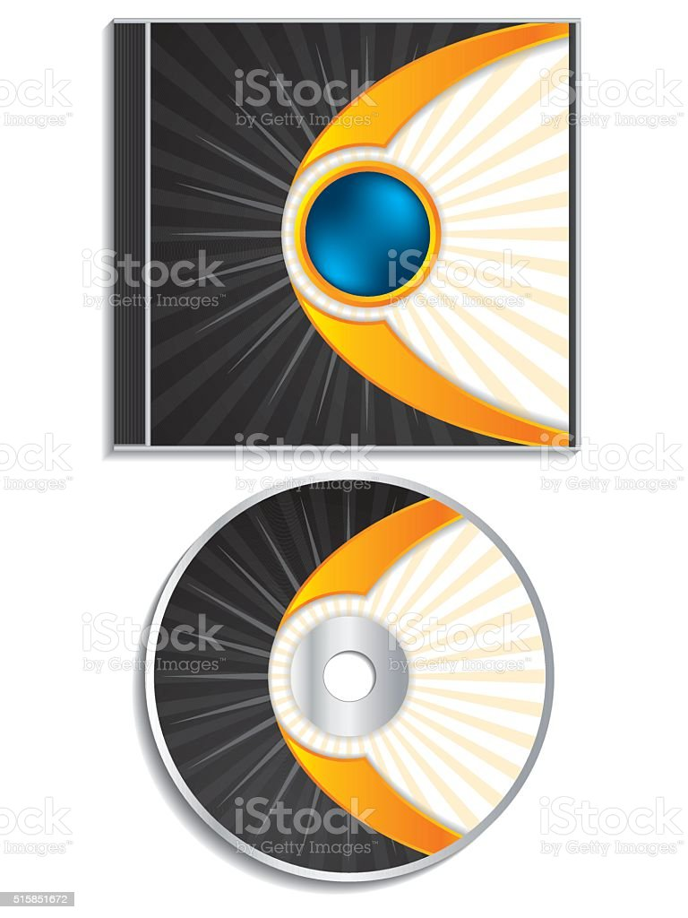 Abstract cd and cover design vector art illustration