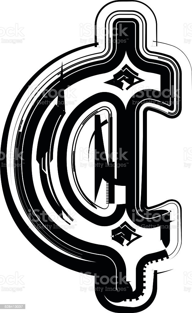 Abstract Cent Symbol Stock Vector Art More Images Of American