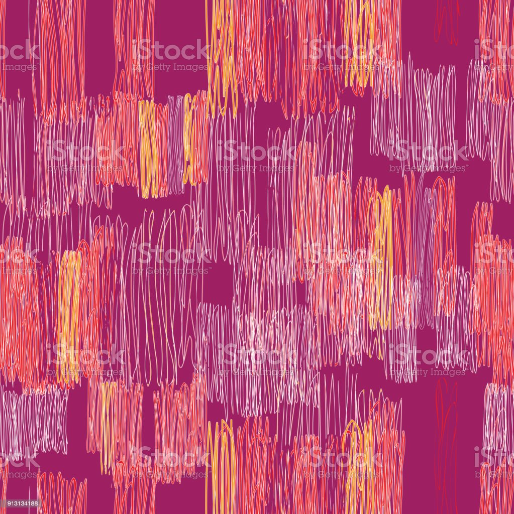 Abstract Chaotic Line Drawn Seamless Pattern Stock Vector Art & More ...