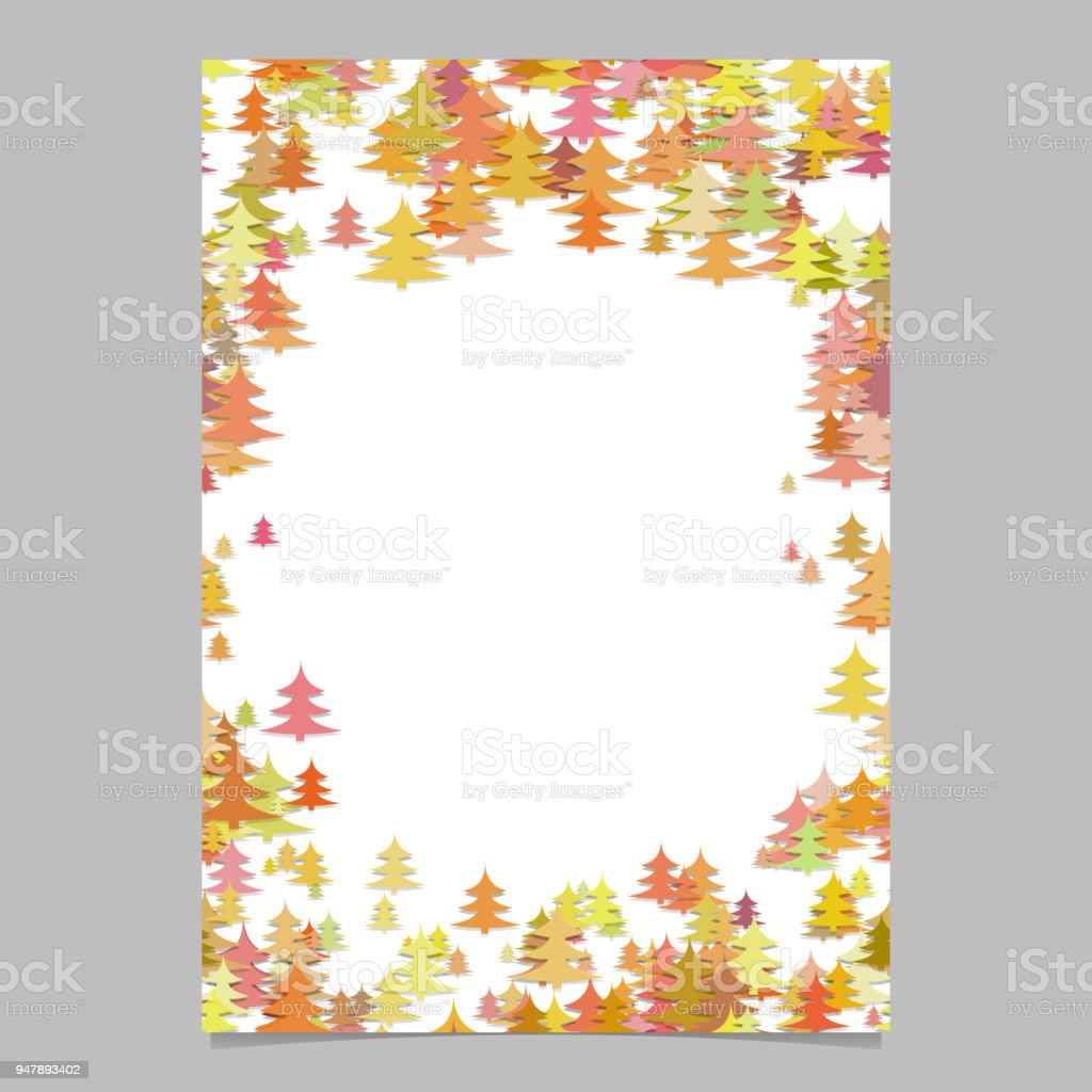 abstract chaotic pine tree brochure template blank holiday vector