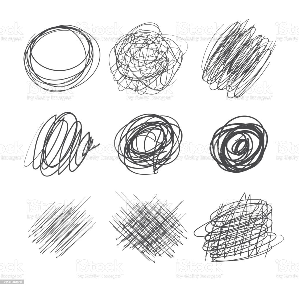 Abstract chaotic round sketch royalty-free abstract chaotic round sketch stock vector art & more images of abstract