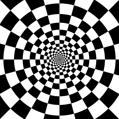abstract checkered background. optical illusion effect.