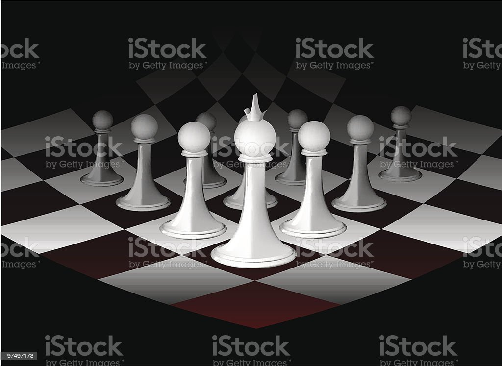 Abstract chessboard with white figures royalty-free abstract chessboard with white figures stock vector art & more images of abstract
