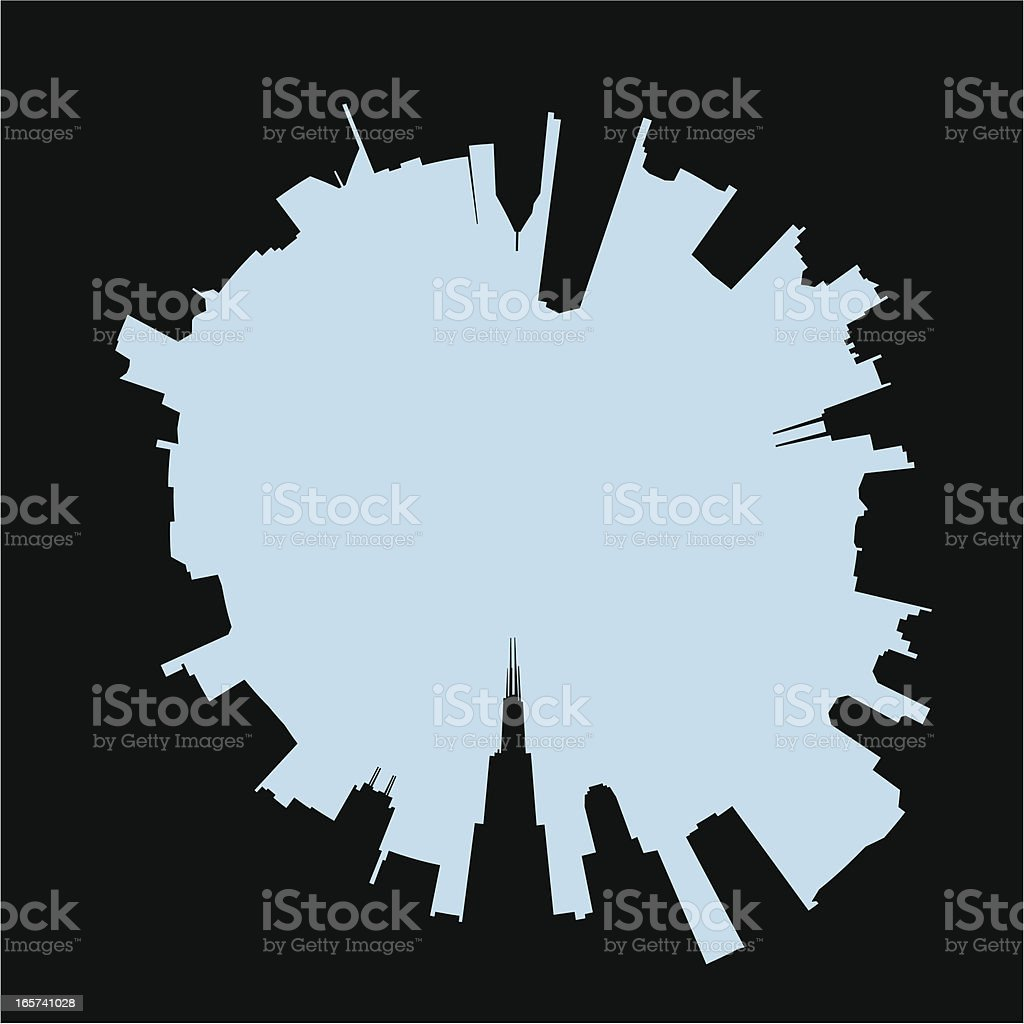 Abstract Chicago Skyline royalty-free stock vector art