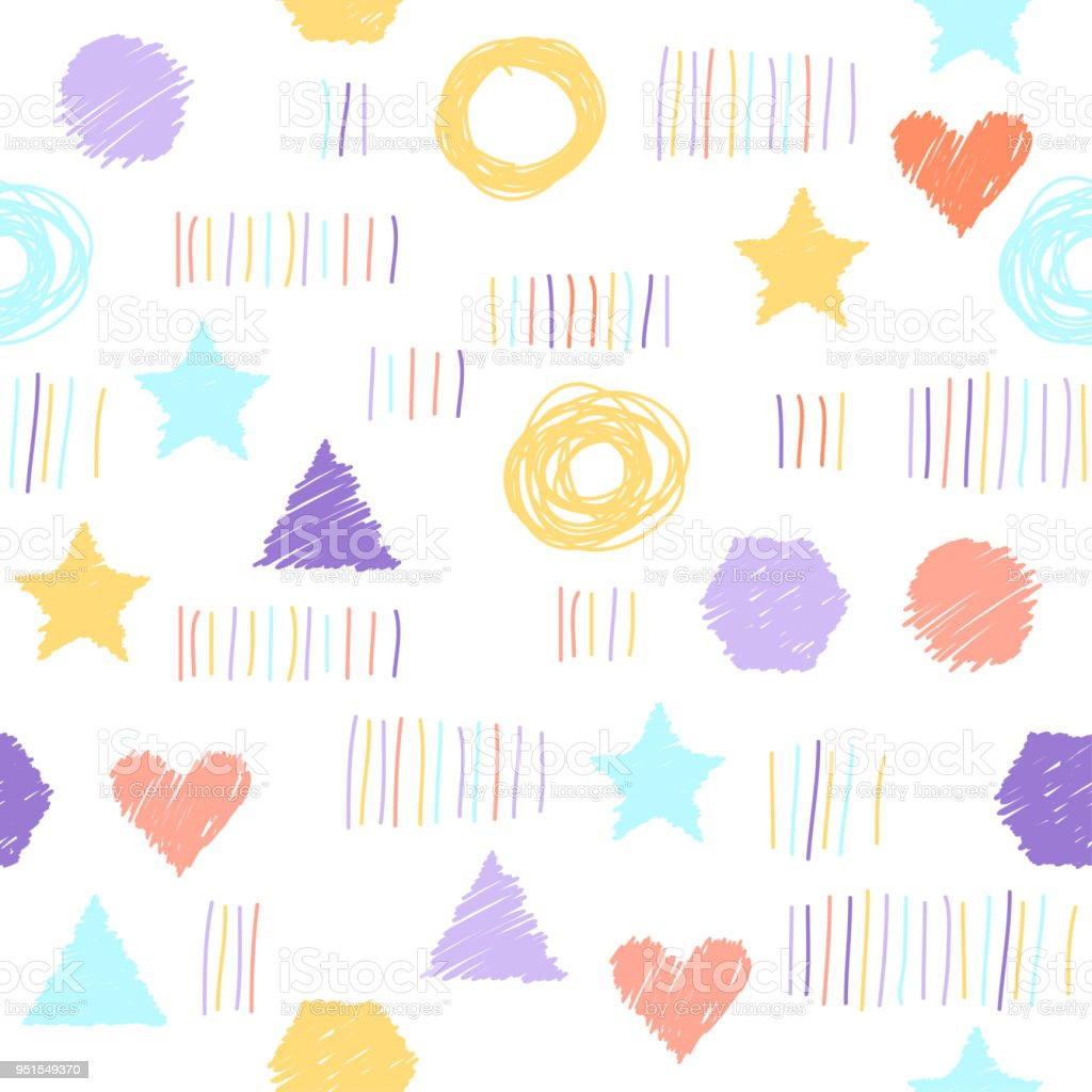 Abstract Childish Shapes Pattern For Card Invitation Wallpaper Album