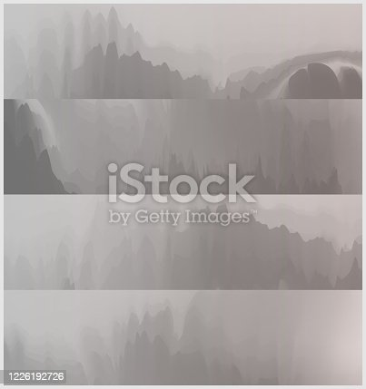 istock abstract Chinese mountains and waters painting mountain landscape banner collection 1226192726