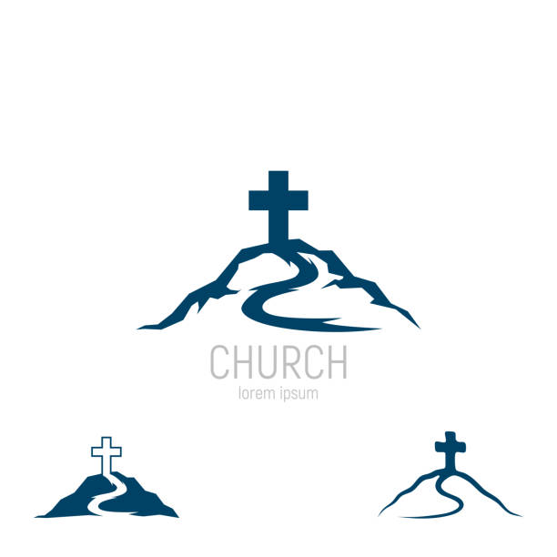 Abstract christian cross logo vector template. Church logo. Abstract christian cross logo vector template. Church logo. Vector illustration gospel choir stock illustrations