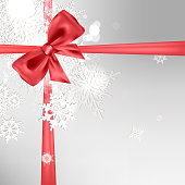 Abstract Christmas background with bow