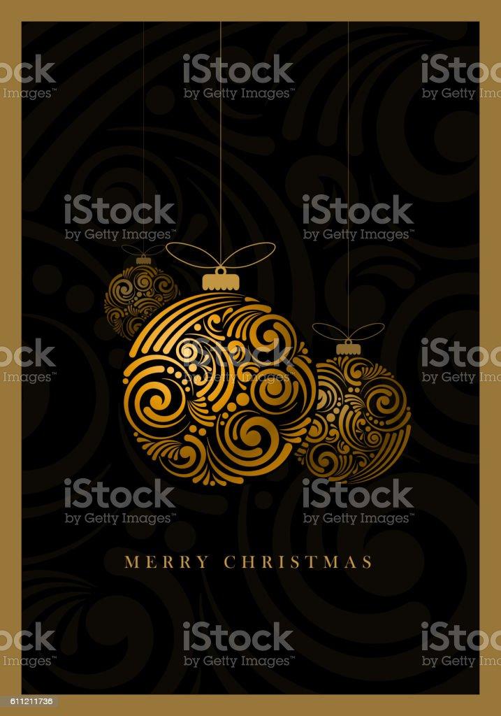 Abstract Christmas Balls vector art illustration