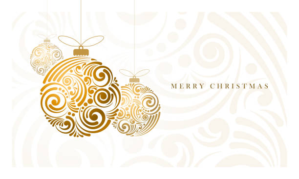bildbanksillustrationer, clip art samt tecknat material och ikoner med abstract christmas balls - christmas decoration