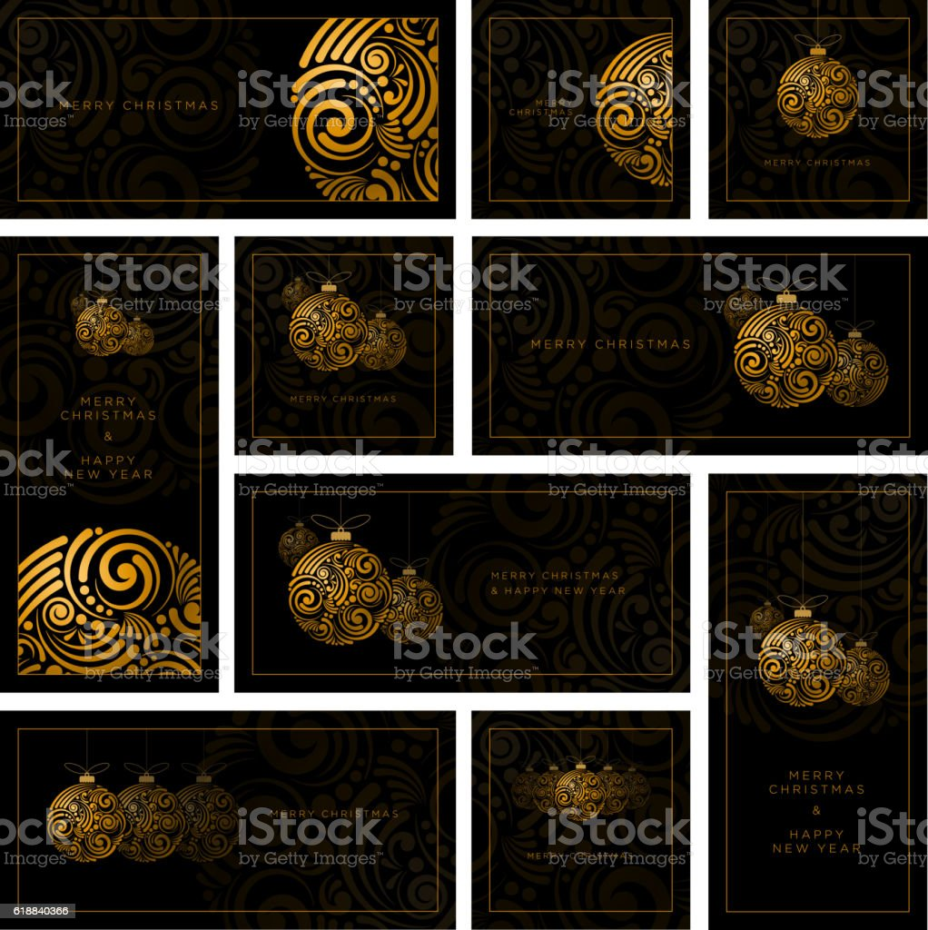Abstract Christmas Design Collection vector art illustration