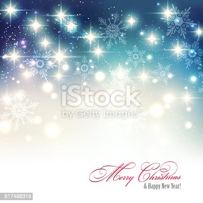 Vector  illustration Abstract Christmas blue light background