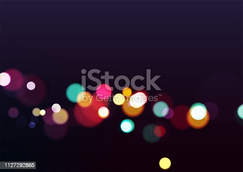 Abstract Christmas Lights Background. Vector Illustration