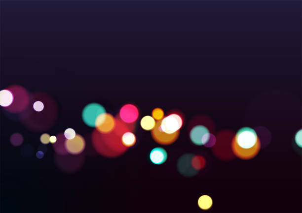 Abstract Christmas Lights Background Abstract Christmas Lights Background. Vector Illustration nightlife stock illustrations