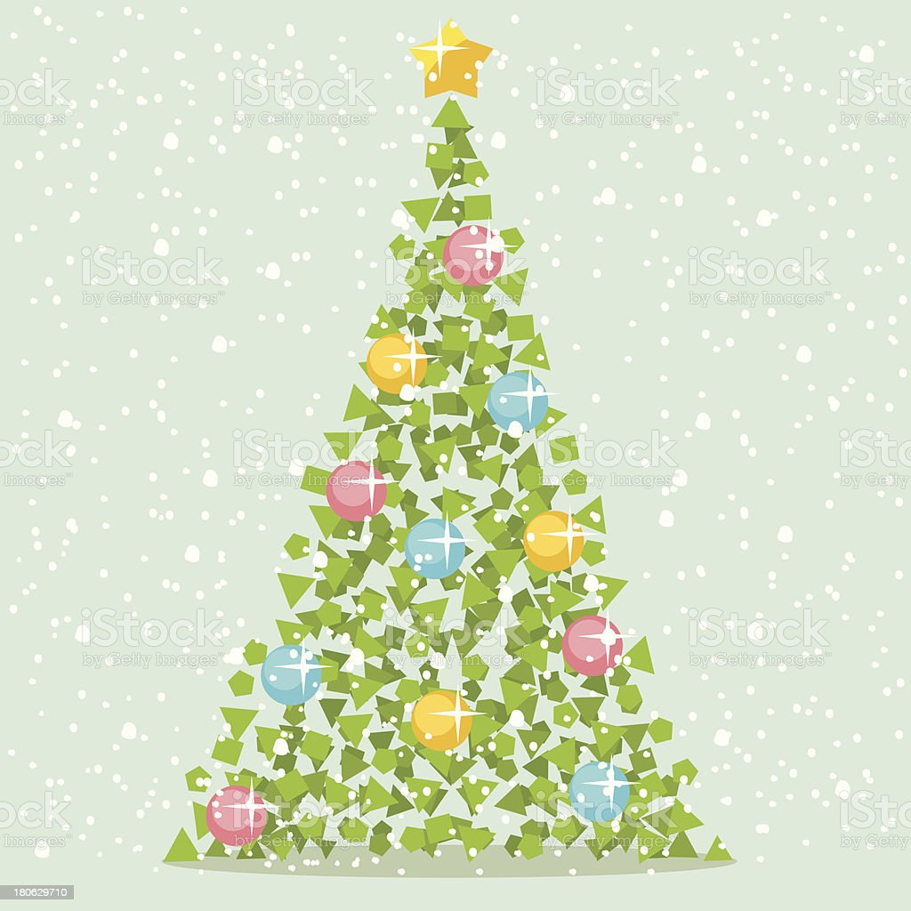 Abstract Christmas Paper Tree royalty-free stock vector art