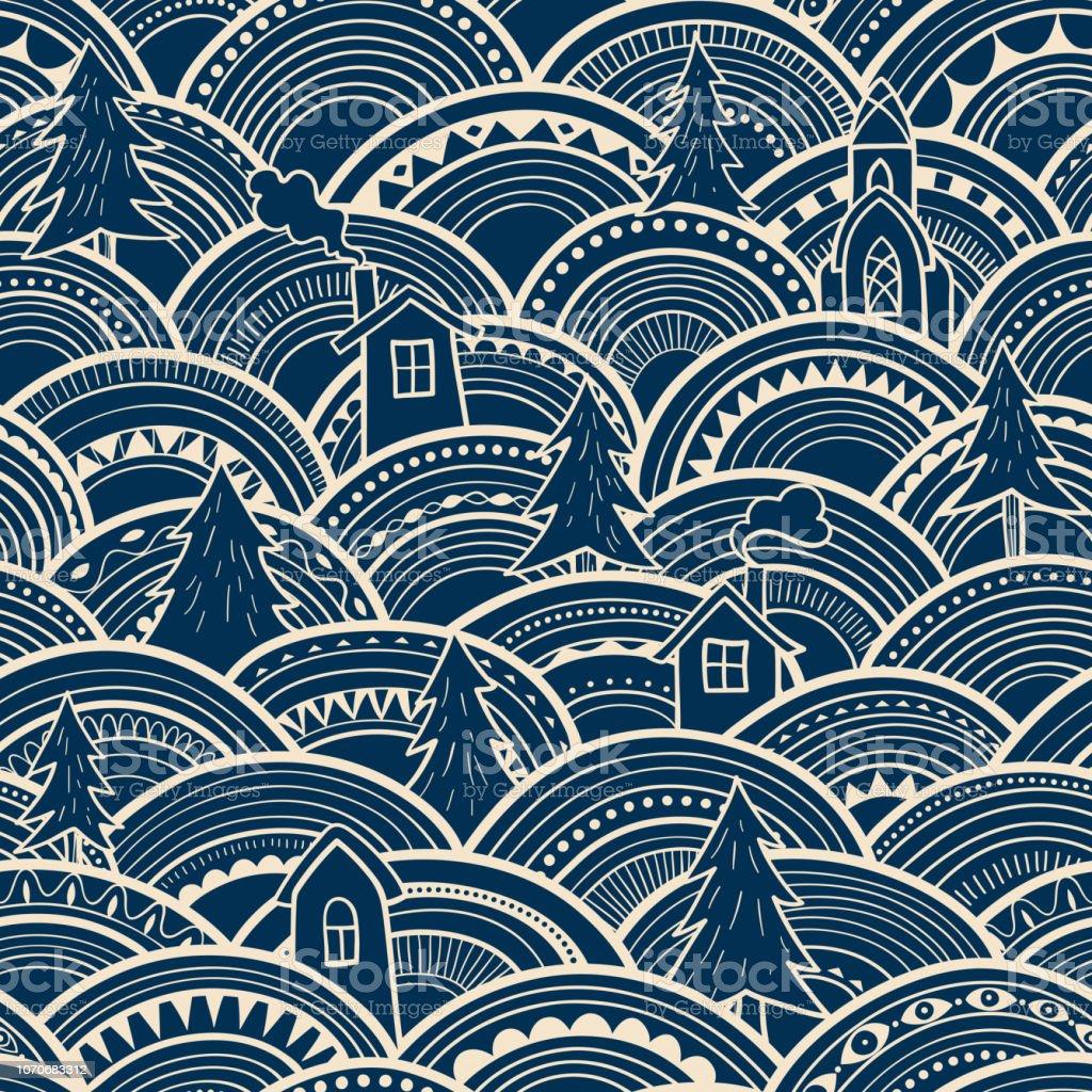 Nahtlose Muster Abstrakt Weihnachten Stock Vektor Art Und