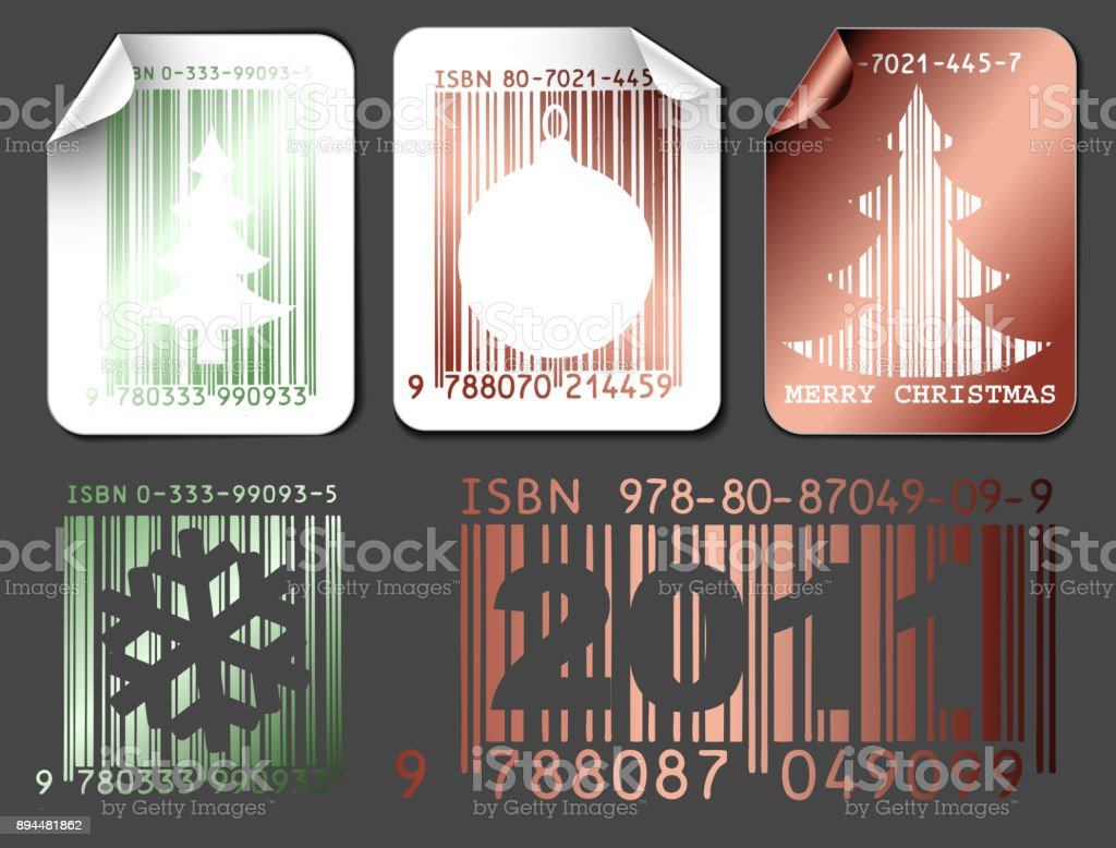 Abstract Christmas shopping labels vector art illustration