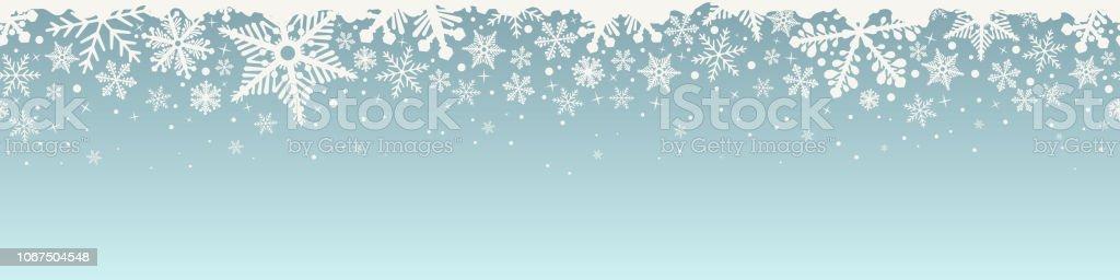 Abstrakte Weihnachten Top nahtlose Schneeflocke. - Lizenzfrei Abstrakt Vektorgrafik