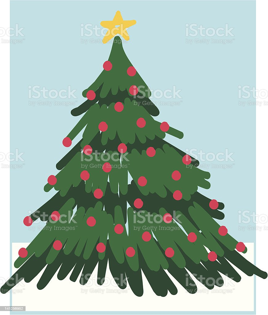 Abstract Christmas Tree 3 royalty-free stock vector art