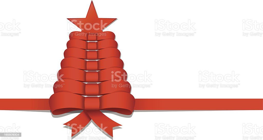 Abstract Christmas tree made of Bow royalty-free stock vector art