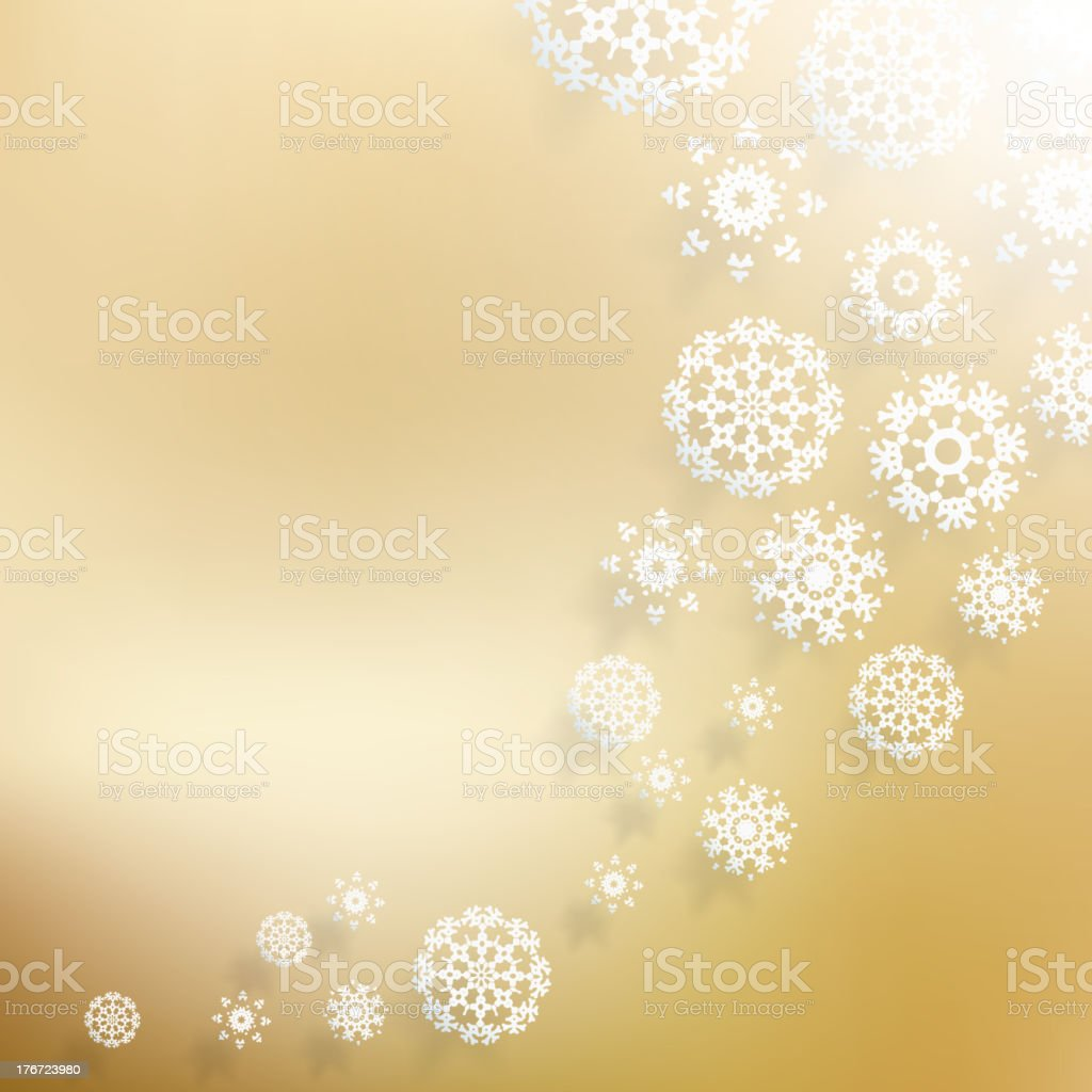 Abstract Christmas with snowflakes. royalty-free stock vector art