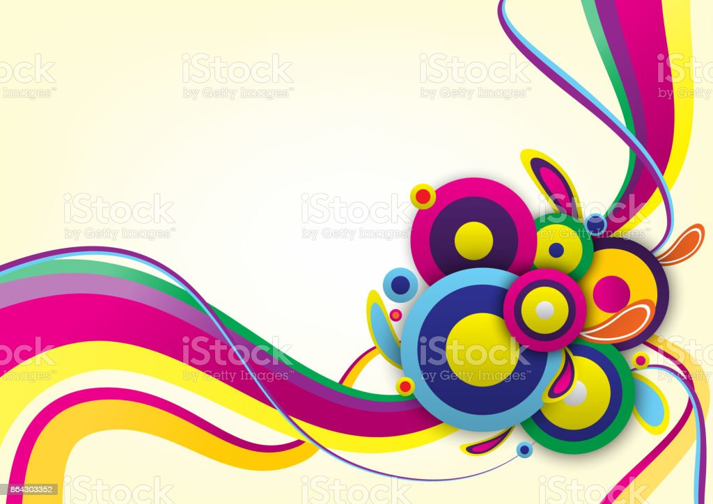 Abstract circle background. Cerebration event background. vector illustration. royalty-free abstract circle background cerebration event background vector illustration stock vector art & more images of abstract