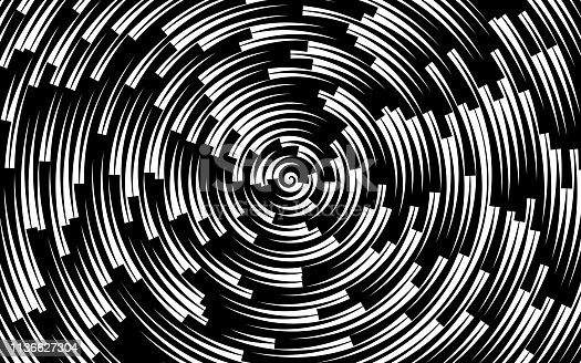 Round circling abstract looping spiral background.