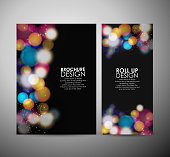 Abstract Circle bokeh. Brochure business design template or roll up.
