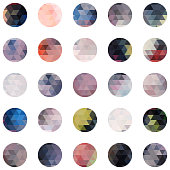 abstract circle colourful mosaic icon