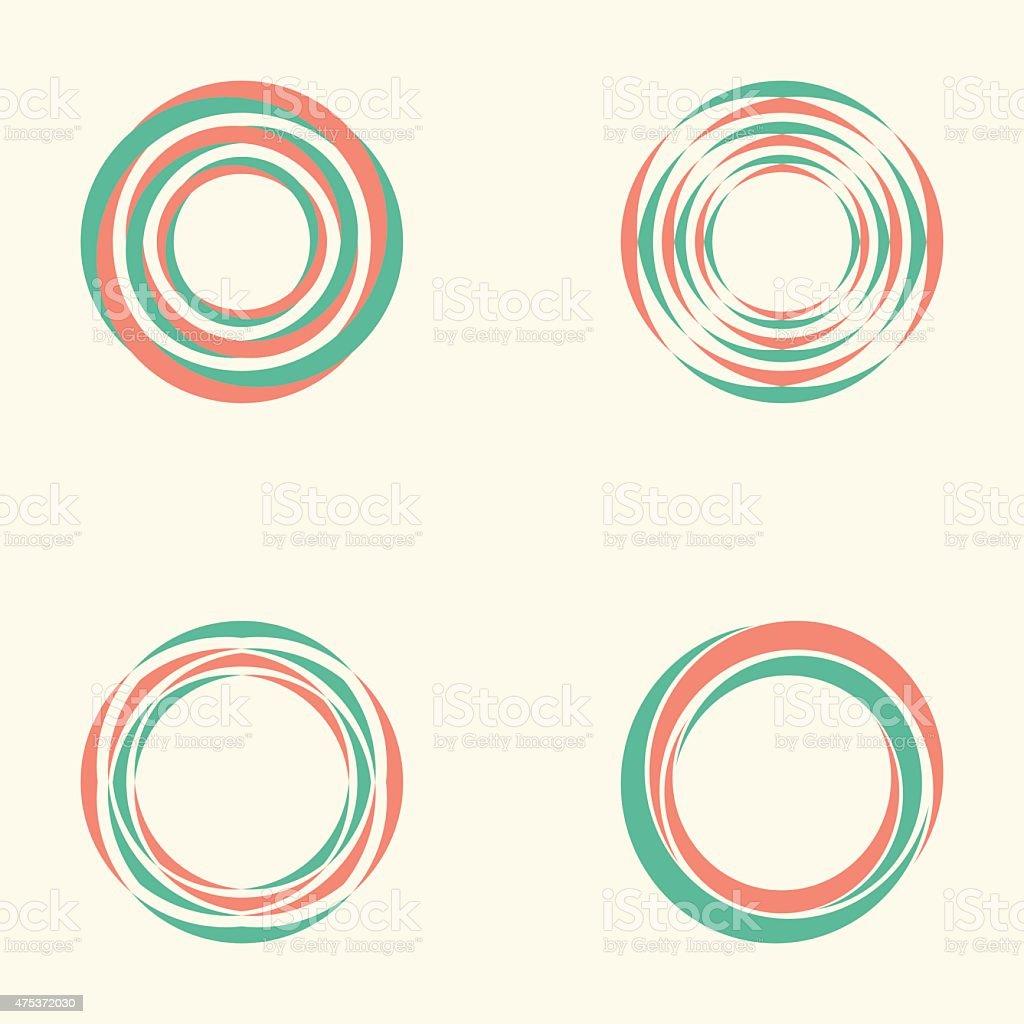 Abstract circle creative signs and symbols, Circles elements vector art illustration