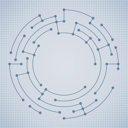 Abstract Circle Data Nodes
