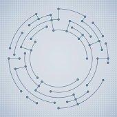 Data nodes abstract circle.