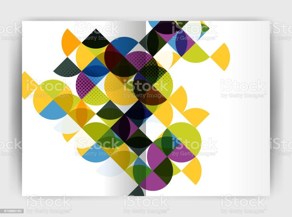 ilustração de abstract circle design business annual report print
