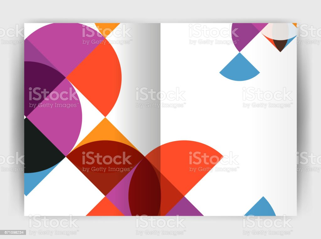 Abstract circle design business annual report print template vector art illustration