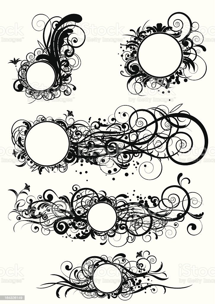 Abstract circle design vector art illustration