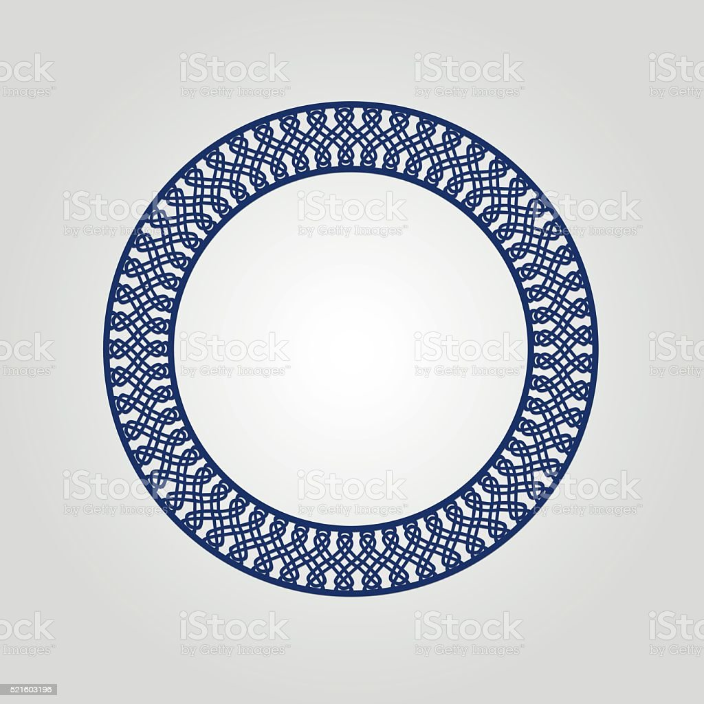 ae1e65127693 Abstract Circle Frame With Swirls Vector Ornament Vintage Frame May ...
