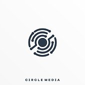 Abstract Circle Illustration Vector Design Template. Suitable for Creative Industry, Multimedia, entertainment, Educations, Shop, and any related business