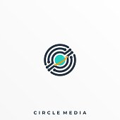 Abstract Circle Illustration Vector Design Template. Suitable for Creative Industry, Multimedia, entertainment, Educations, Shop, and any related business.