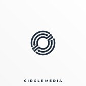 Abstract Circle Illustration Vector Design Template