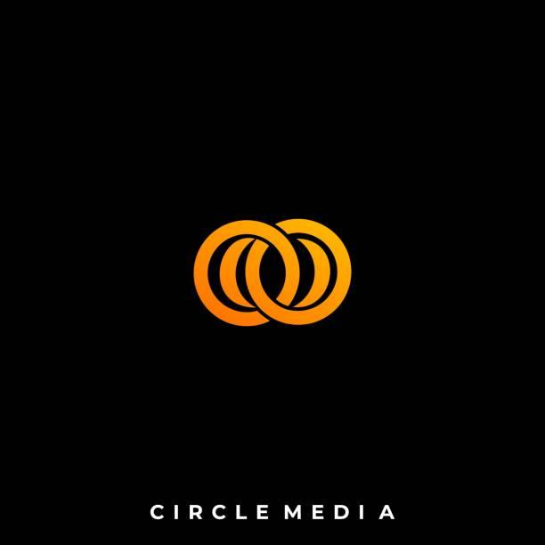 ilustrações de stock, clip art, desenhos animados e ícones de abstract circle illustration vector design template - circular economy