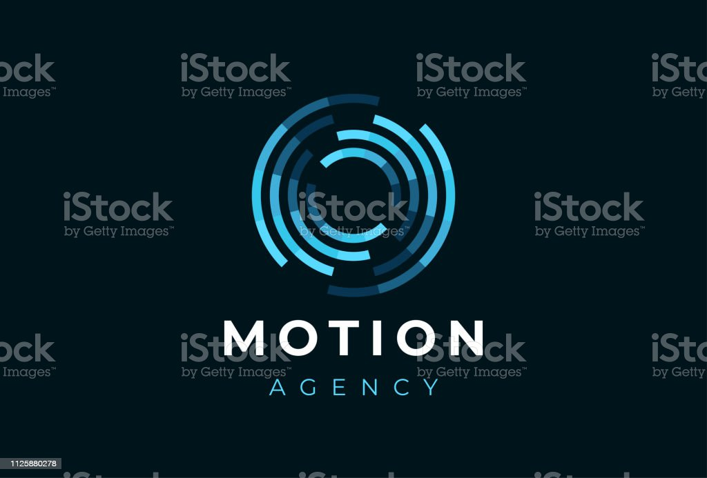Abstract circle motion logotype. Creative dynamic round logotype. Connection symbol. royalty-free abstract circle motion logotype creative dynamic round logotype connection symbol stock illustration - download image now