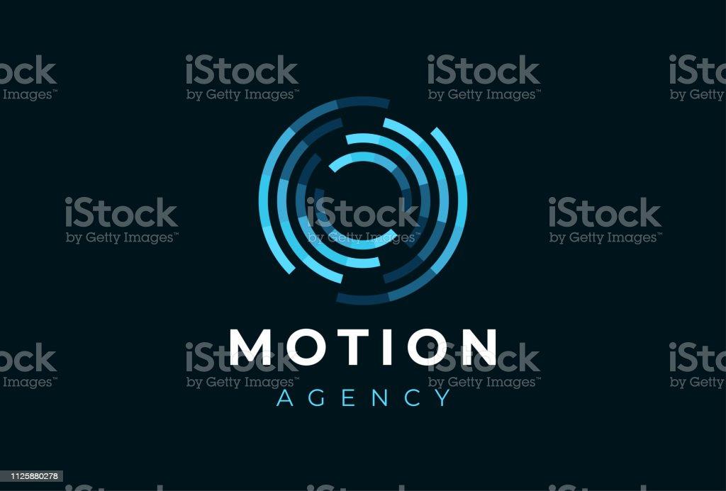 Círculo abstracto movimiento logotipo. Logotipo redondo dinámico creativo. Símbolo de conexión. ilustración de círculo abstracto movimiento logotipo logotipo redondo dinámico creativo símbolo de conexión y más vectores libres de derechos de a la moda libre de derechos