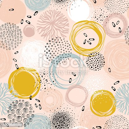 istock Abstract Circle Seamless Pattern_01 1203688659